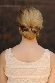 chignon hairstyle wedding sleek