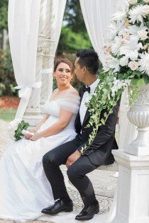 Beautiful simple + elegant outdoor wedding under the Chateau in the garden   itakeyou.co.uk - garden wedding ,outdoor wedding ,blush wedding