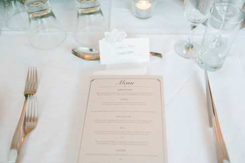 Wedding Menu - Beautiful simple + elegant outdoor wedding under the Chateau in the garden | itakeyou.co.uk - garden wedding ,outdoor wedding ,blush wedding