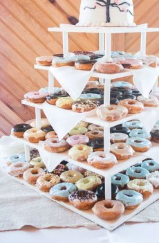 25 Wedding Donuts - a fun alternative wedding dessert Ideas - Donut wedding dessert table