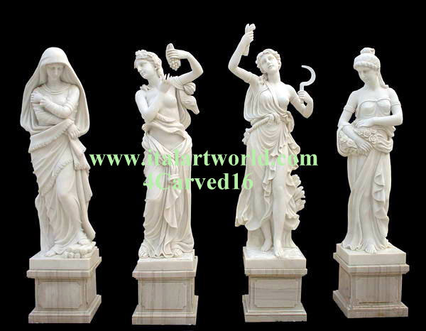 Four Seasons Statue Sculptures Marble 4 Season Statue Italian Seasons Statue Large Four