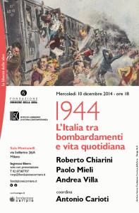 Corriere Sera. 1944. L'Italia tra bombardamenti e vita quotidiana