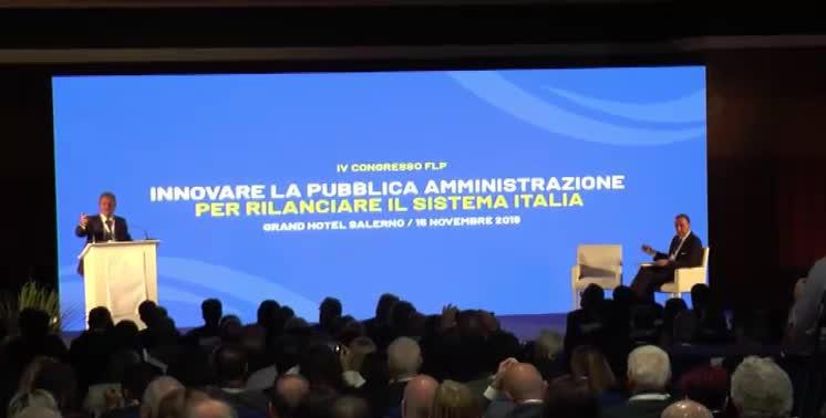 """IV Congresso FLP – Federazione Lavori Pubblici """"Innovare la Pubblica Amministrazione per rilanciare il Sistema Italia"""""""
