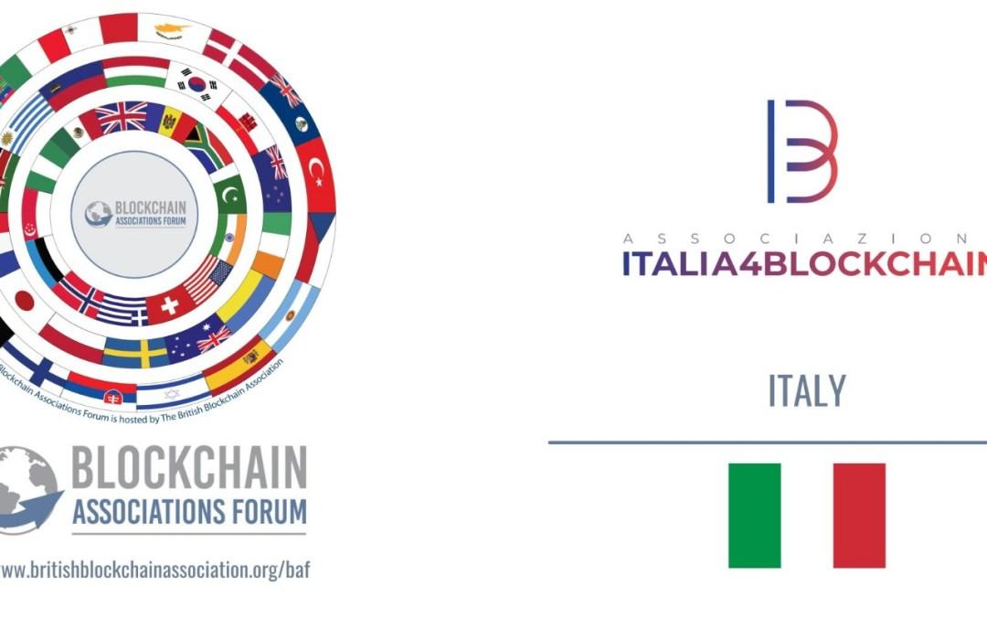 ITALIA4BLOCKCHAIN E' ENTRATA A FAR PARTE DEL BLOCKCHAIN ASSOCIATION FORUM