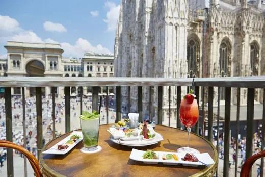 Al ristorante Giacomo Arengario colazione e aperitivo in terrazza  Italia a Tavola