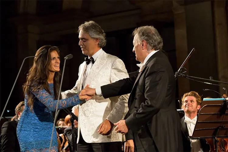Veronica Berti, Andrea Bocelli e Zubin Mehta