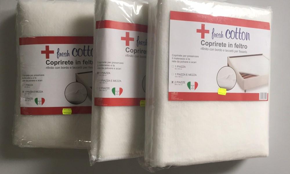 Coprirete FRESH COTTON in feltro con laccetti in tre misure - Italia ...