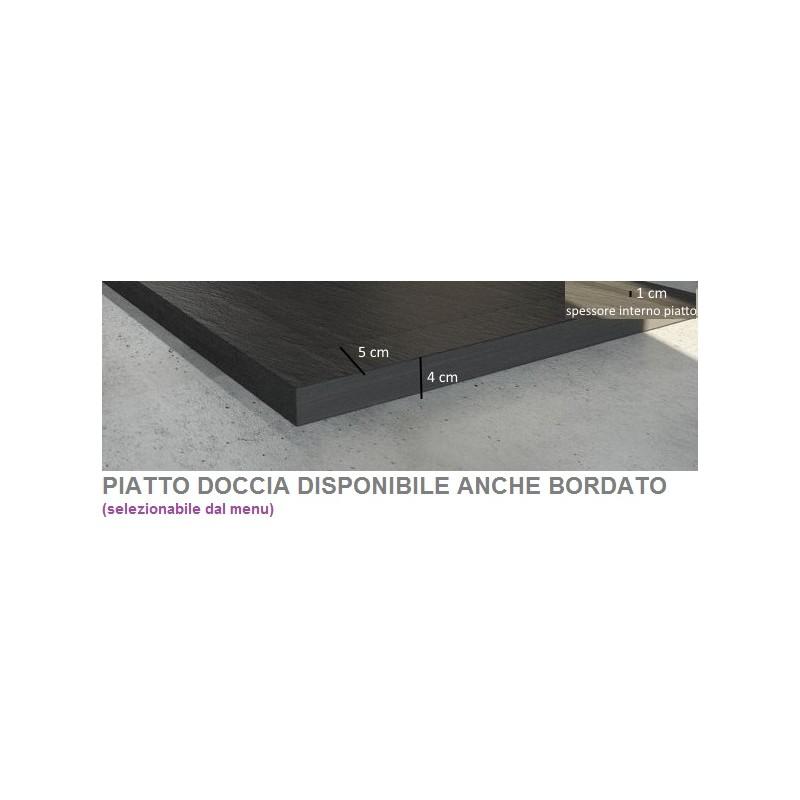 Piatto Doccia  Marmo Resina con Piletta Materica H 3 cm