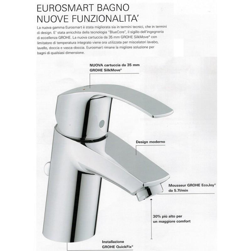 Grohe  Miscelatori Eurosmart New Lavabo  Bidet  Monocomando Doccia