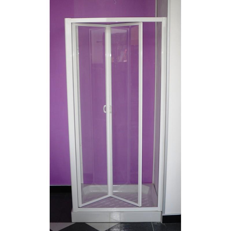 Porta per vano doccia con movimento a soffietto Cristallo