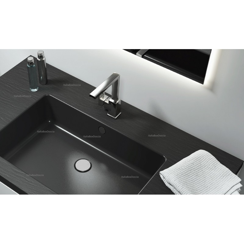 Relax Design  Top con Lavabo Integrato da 70 cm in Marmo Resina