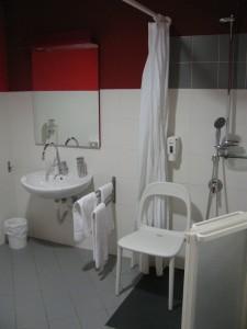 doccia lavabo shower basin 225x300 - Italiaccessibile - Hotel Lago Losetta- Setriere (To)