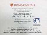 grazie braille convegno campidoglio - Il Progetto Viaggiare Disabili dal 12 al 14 febbraio alla BIT di Milano