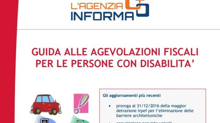 Agenzia delle Entrate :  online la guida alle agevolazioni fiscali per le persone con disabilita'