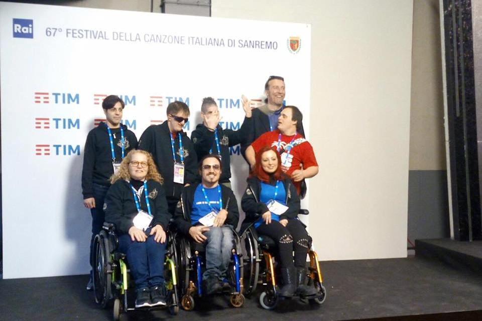 I Ladri Di Carrozzelle ospiti a Sanremo 2017. La disabilità è Rock!
