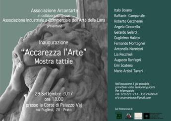 """Prato : """"Accarezza l'Arte"""" Mostra Tattile a Palazzo Vaj"""