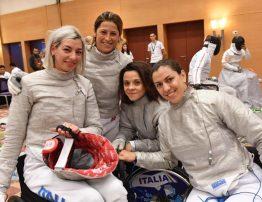 ITALIA Sciabola Femminile paralimpica ROMA2017 1024x792 - MONDIALI SCHERMA PARALIMPICA : L'ITALIA CHIUDE A QUOTA UNDICI MEDAGLIE