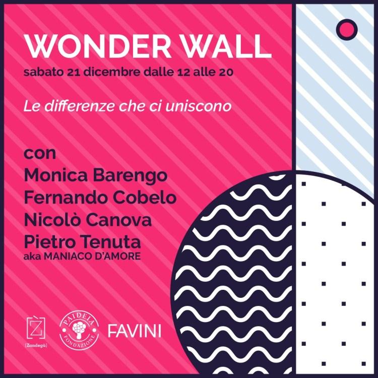 """WONDER WALL 2019 - """"WONDER WALL"""" :  MARATONA DI DISEGNO A FAVORE DI FONDAZIONE PAIDEIA"""