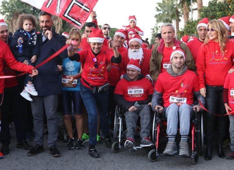 """happyforchristmas2019 giusy versace - """"Happy Run for Christmas"""": in 600 al via per aiutare la disabilità!"""