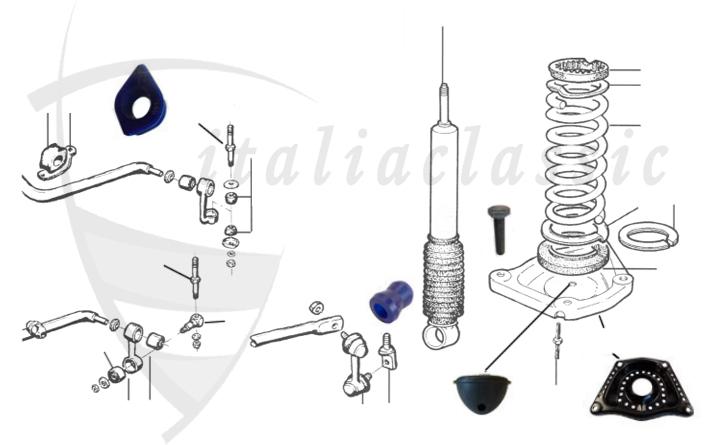Alfa Romeo / Giulia/Berlina/Bertone/Spider / Fahrwerk
