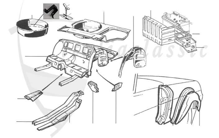 Alfa Romeo / Giulia-Berlina/Bertone/Spider 105-115 / Body