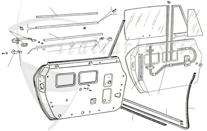 Rubber seals / Rubber parts / Body parts / 124 Abarth
