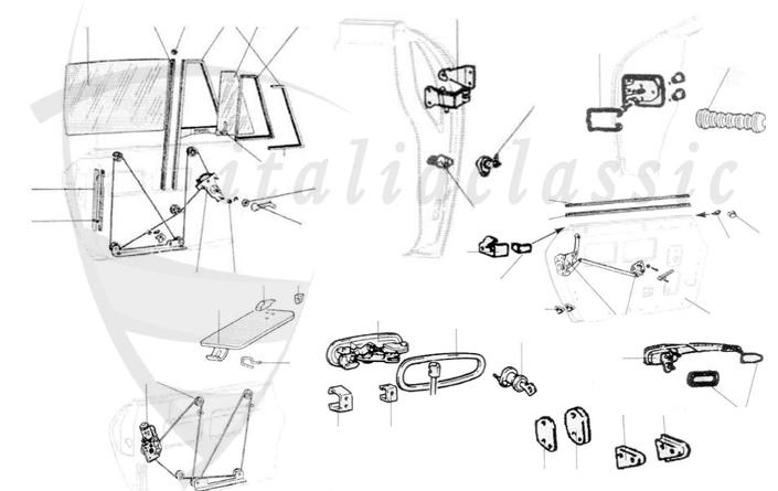 Parts / Body parts / 124 Spider, Coupe & Lim., 125 / Fiat