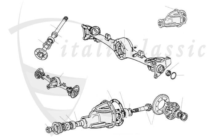 Fiat / 124 Spider / Transmissione / Asse posteriore