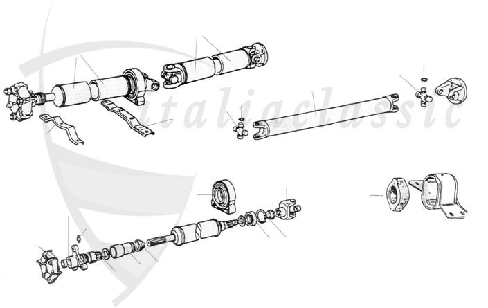 Transmission / 124 Spider, Coupe & Lim., 125 / Fiat