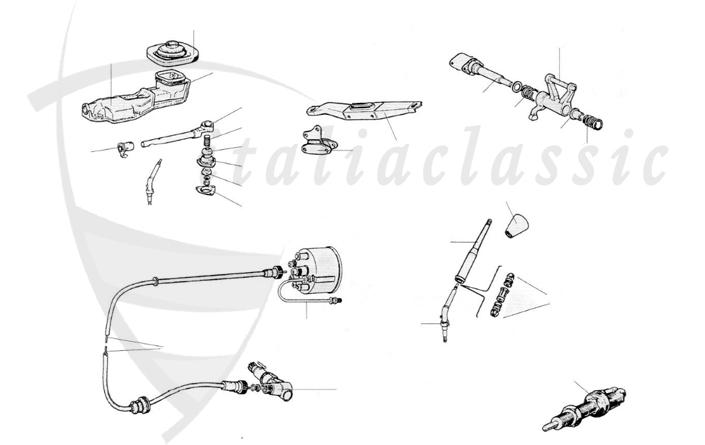 Fiat / 124 Spider / Transmission / Gearbox / Clutch