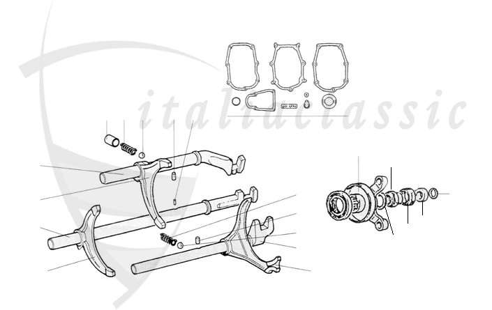 Fiat / 124 Spider / Antrieb / Getriebe / Kupplung