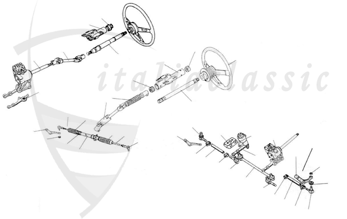 Brake system / Suspension / 124 Spider, Coupe & Lim., 125