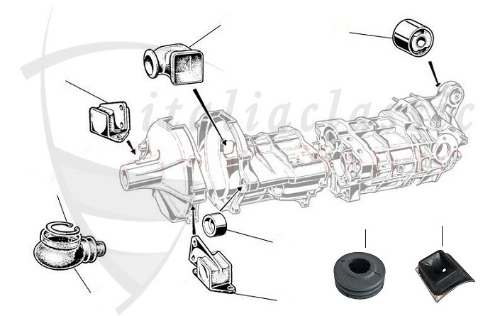 Alfa Romeo / GTV4/GTV6/Alfetta/Giulietta 116 / Antrieb