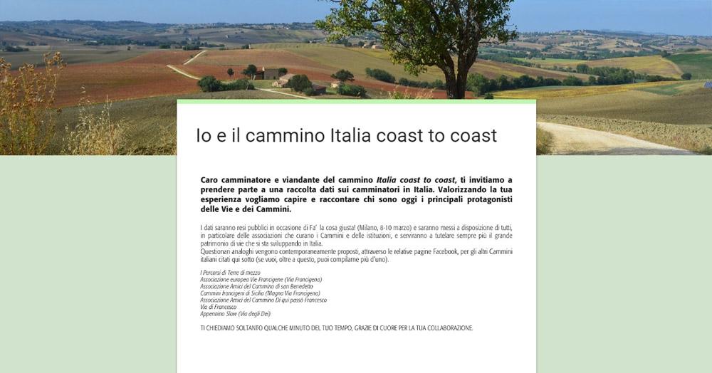 Io e il cammino Italia coast to coast – Sondaggio