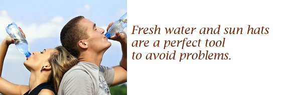Emergences - Fresh water and sun hats are a perfect tool to avoid problems