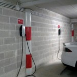 Tesla recharge point at Grand Hotel Villa Serbelloni Lake Como
