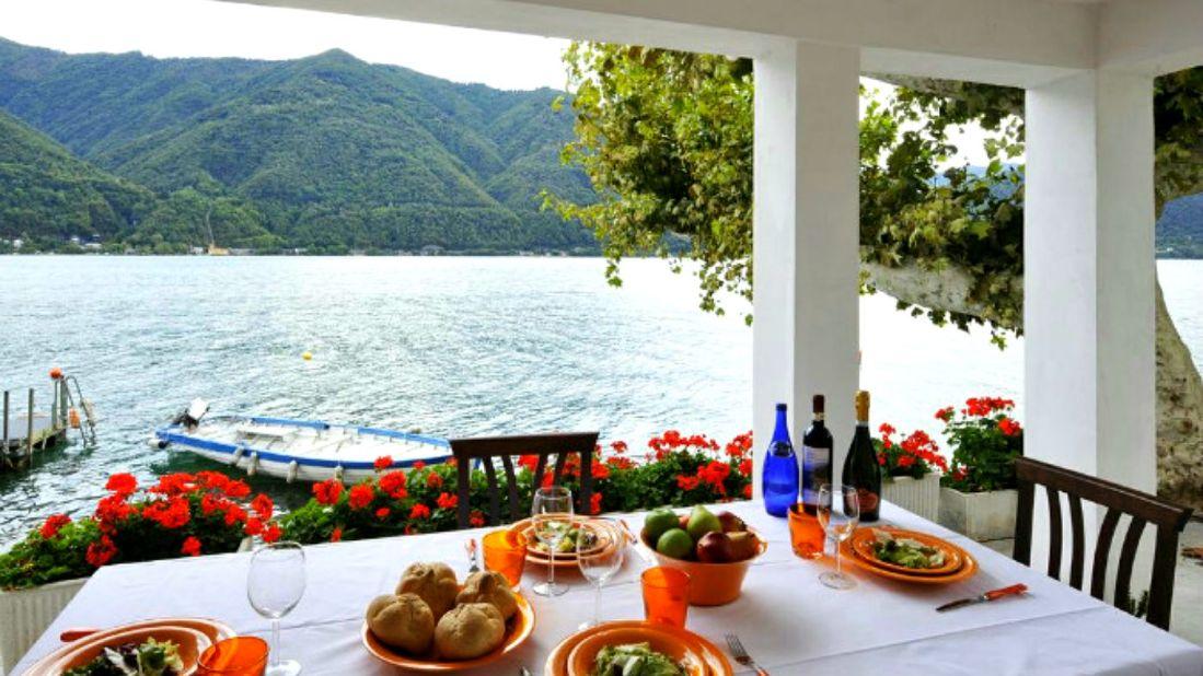 vakantiehuis bootplaats meer van lugano