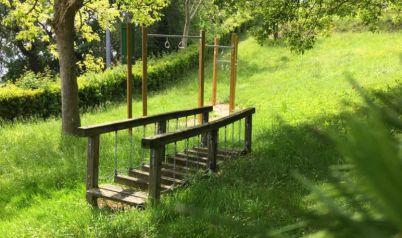 De tuin van de residence