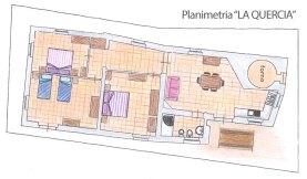 Vakantiehuis Quercia | Plattegrond van het huis