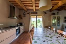 Keuken toegang tot het terras en de tuin