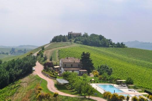 De agriturismo ligt op het landgoed van een wijnboerderij