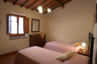 Appartement Botticelli | S;laapkamer met twee 1-persoonsbedden