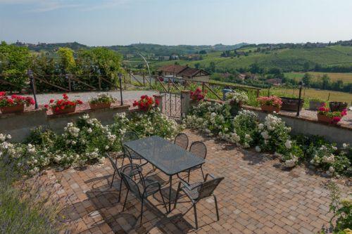 Prive-terras met mooi uitzicht