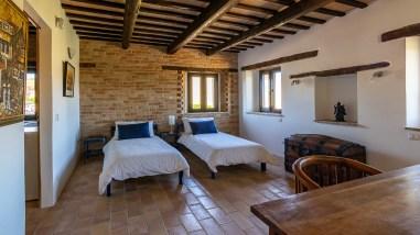 Slaapkamer 3 met twee 1-persoonsbedden