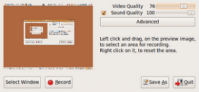 recordmydesktop 300x140 290x135 Video Tutorial