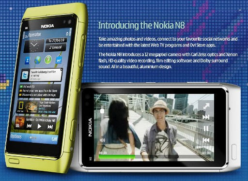 NokinaN8 0001 Nokia N8: Nuovo terminale da 12 MP Xenon con video in HD, schermo OLED, Web tv, e Symbian 3