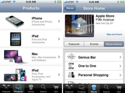 Apple store app 001 Disponibile una nuova applicazione che permette di accedere all'Apple Online Store da iPhone, iPod Touch ed iPad