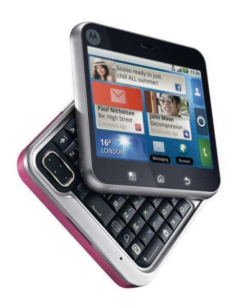 Motorola flipout 001 472x600 Motorola Flipout: Nuovo terminale dotato di Android 2.1 e da un design molto stravagante e singolare