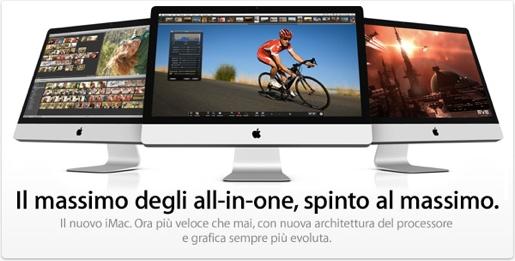 imac luglio 2010 Apple ha presentato i nuovi iMac con Intel Core i3, i5 e i7