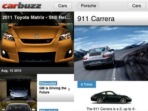 carbuzz1 500x375 CarBuzz, foto e recensioni delle migliori Auto, sul tuo iPhone gratis